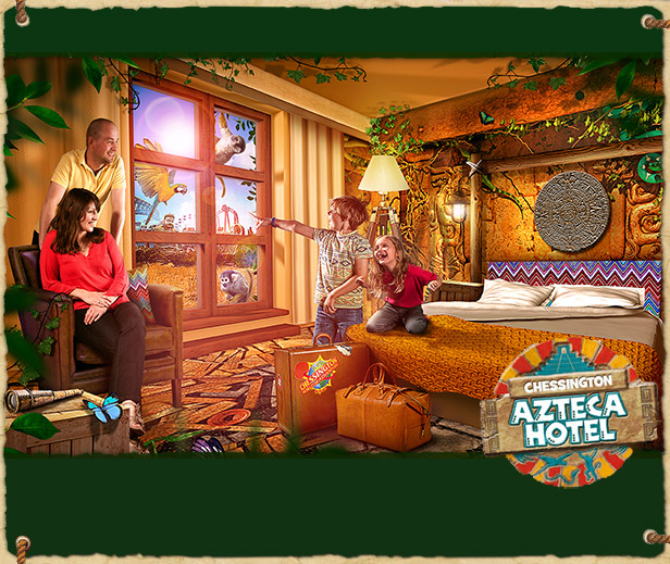 Brand new fully-themed Chessington Azteca Hotel