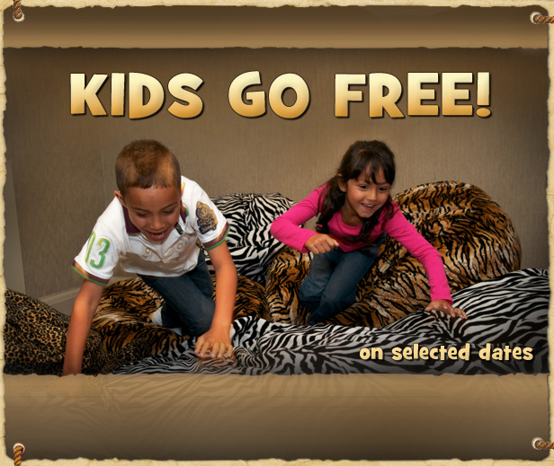 Kids Go FREE on selected dates!