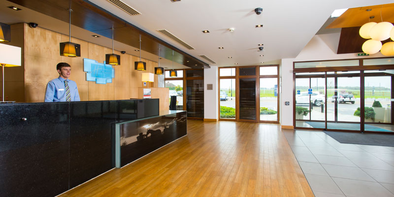 holiday inn express epsom downs reception 1